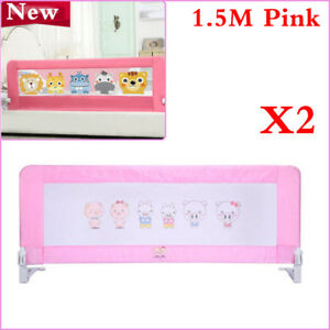 Image Is Loading 2PCS Pack 150CM Pink Bed Guard Rail