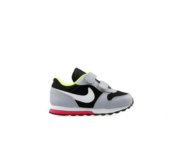 innovative design 0ce04 f42ef Baby Toddlers Nike MD Runner 2 TDV Trainers Shoes Grey Black White 806255  016