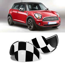 Door Rear View Mirror Covers Stic Side Wing Mirror Cap with Auto Power Folding Side Mirror Covers Caps for Mini Cooper R55-R61
