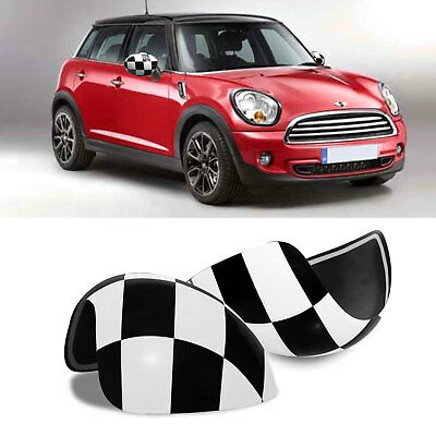 2Pcs Mirror Covers Fit MINI Cooper R55 R56 R60 Power Fold Mirror Union Jack WING