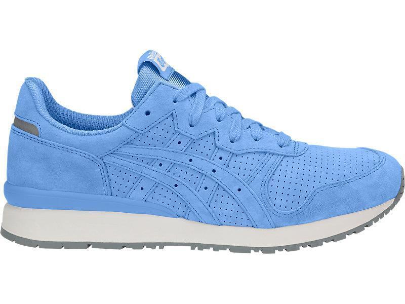 ASICS ONITSUKA TIGER ALLY D701L-4141 CORNFLOWER blueE WHITE GREY-PERFORATED SUEDE