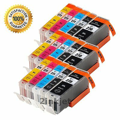 20 Pack PGI-270 XL CLI-271 XL Ink Cartridge for Canon PIXMA MG7700 MG6821 MG5721