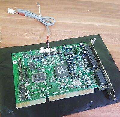 Brioso 16-bit Scheda Audio Isa Pro-multimedia Rev 2.1 Maa8s24002 Ad1845jp Vintage!- Reputazione In Primo Luogo