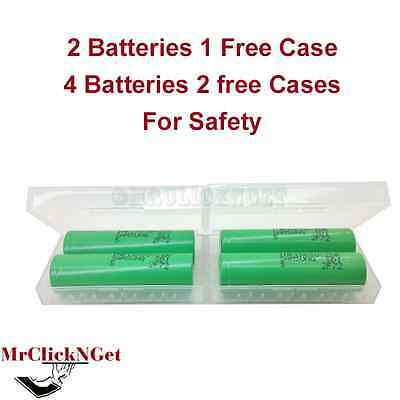 2 Genuine Samsung INR18650-25R Batteries 2500mAh 3.7v Rechargeable HD 20A