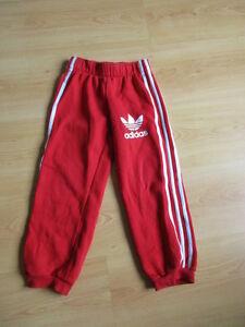 Détails sur pantalon de survêtement Adidas Rouge Taille 5 ans à 58%