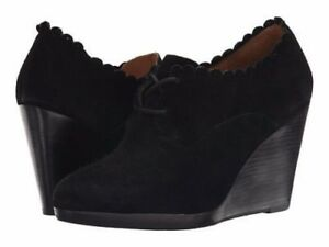 7116d64e72ee Jack Rogers Women s Olivia Suede Wedge Bootie (1254) Black Size 6M ...