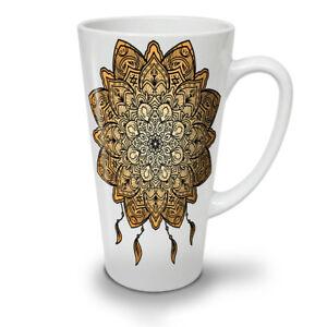 Mandala Yoga NEW White Tea Coffee Latte Mug 12 17 oz   Wellcoda