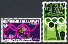 Malagasy C147-C148, MNH. Pre-Olympic, Montreal. Hurdling, Weight lifting, 1975