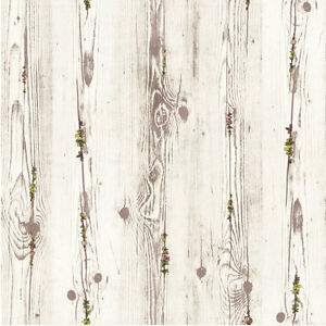Wood flower pattern look contact paper prepasted peel for Pre stick wallpaper