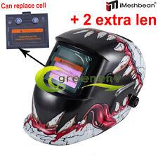 Urban Skull Solar Auto Darkening Welding Helmet Arc Tig Mig Welder Mask Hood New