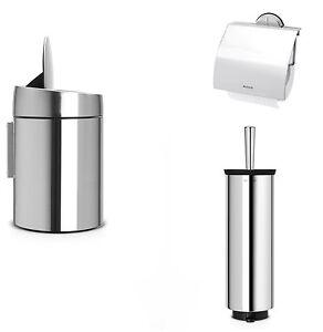 Brabantia-Set-3tlg-ACERO-inox-Cubo-de-Cosmeticos-Cepillo-de-bano