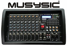 PROFESSIONAL 8 CHANNEL 4500W POWER MIXER With Bluetooth/USB/SD Function MU-MX800