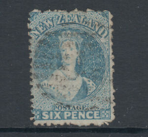 New-Zealand-Sc-41a-SG-136-used-1873-6p-pale-blue-QV-perf-12-sound-Cert