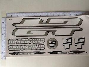 White /& Silver. GT Rebound Stickers Black