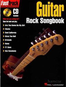 Guitare Rock Répertoire Fasttrack Tab Music Instruction Apprendre à Jouer Livre Cd Ebay