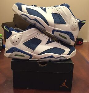 5c743c8f7079 low price image is loading nike air retro jordan xi 6 seahawks white 1c10f  5f1d5