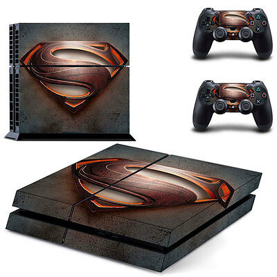 Superman Man of Steel Vinyl Decal Skin Sticker for Sony PS4 & 2 Controllers