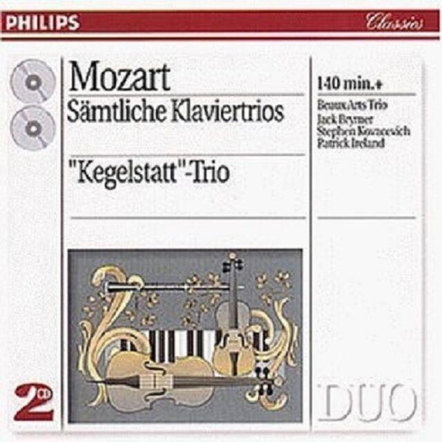 BEAUX ARTS TRIO - SÄMTLICHE KLAVIERTRIOS (GA) 2 CD  21 TRACKS MOZART  NEU