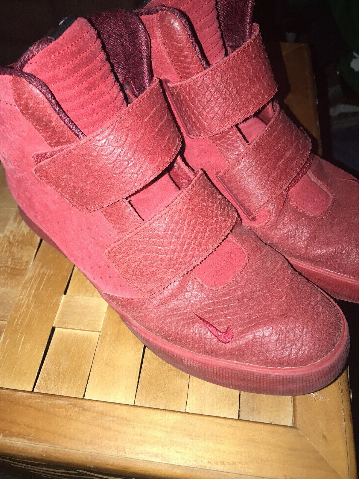 Nike Flystepper 2K3 Premium Gym Red October Yeezy Men's Size 10.5