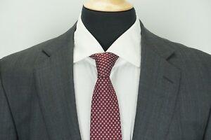 Ermenegildo-Zegna-Roma-Fit-RECENT-Gray-Blue-Plaid-100-Wool-2-Pc-Suit-44L