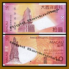 MACAU MACAO 10 PATACAS 2005 BNU P 80 UNC