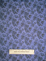 Rjr Lovely Pansy Fabric 100% Cotton By The Yard 1450 Floral Purple Blue