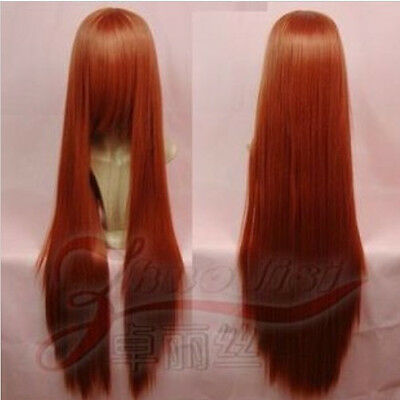 "100cm/120cm long straight heat resistant Cosplay Fashion Wig 40""/47""postage free"