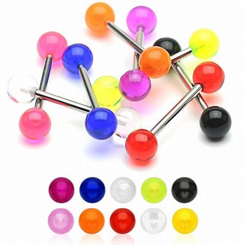 Piercing langue boules acrylique