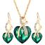 Women-Heart-Pendant-Choker-Chain-Crystal-Rhinestone-Necklace-Earring-Jewelry-Set thumbnail 37