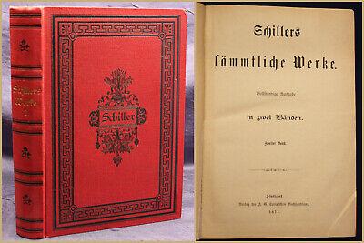 Schiller's Sämtliche Werke 2 Band 1874 Weltliteratur Belletristik Klassiker Sf Weich Und Rutschhemmend