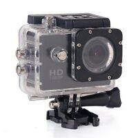 Full Hd 1080p Waterproof Action Camera With 2 Screen, Plus Accessories