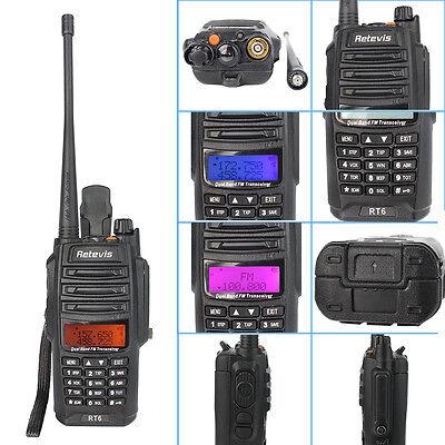 New Brand Retevis RT6 Walkie-Talkie VHF+UHF 128CH Cross band FM Two-Way Radio