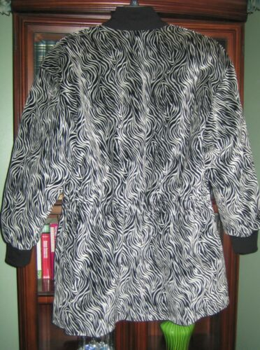Germania Swirl Jacket Fits Escada 40 In Qualità Black Print And Cotton 12 White Yz55qnPr