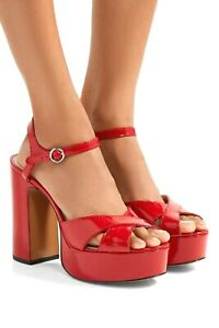 Marc-Jacobs-Lust-patent-leather-block-heel-platform-sandals-Red-Hot-Msrp-350