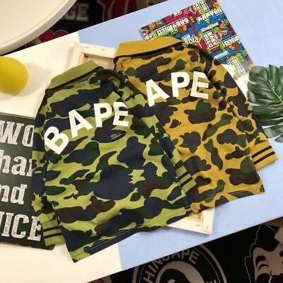 2019 Fashion New Bape Kids Camo Monkey Head Baby Milo Long Sleeve Coat+Pants