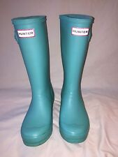 Hunter Rain Boots Kids Mint Green UK 2 /  US 3B / 4G