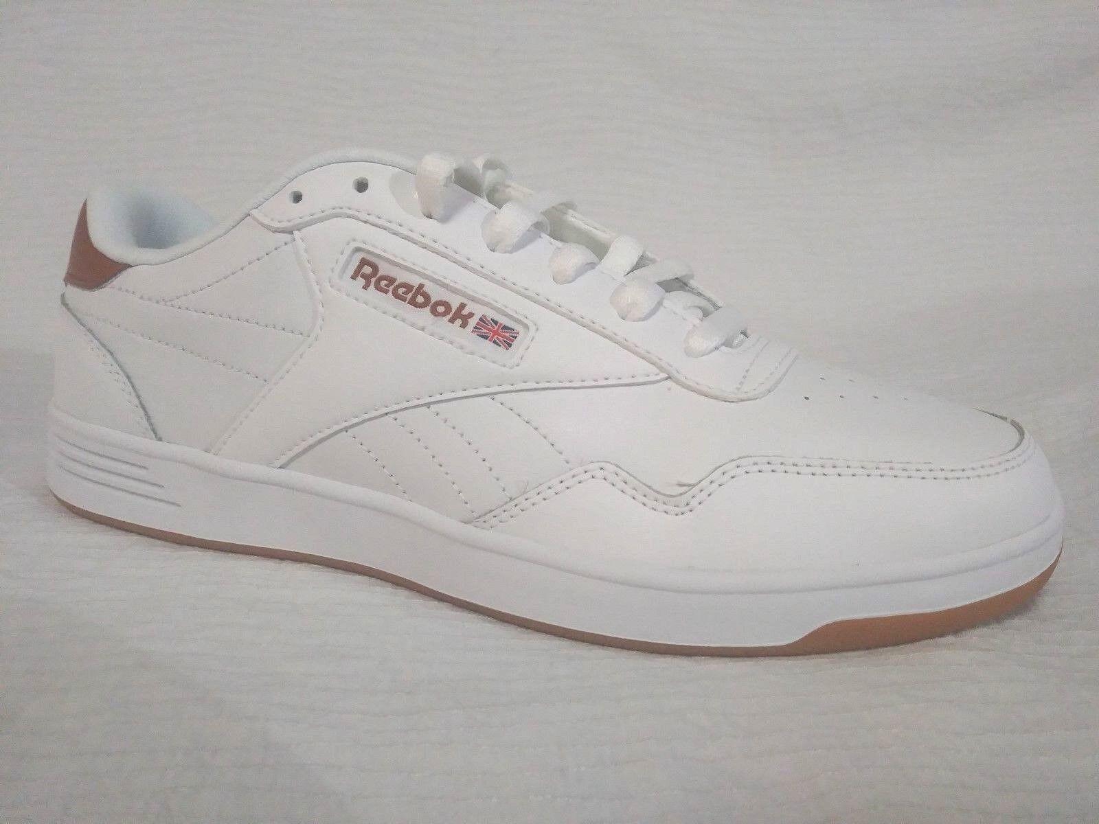 New Reebok Club Memt Classic Mens Size 9 White Gum Sole BS9011