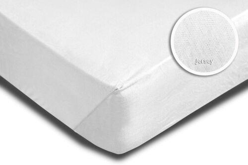 160x200 cm Jersey Rundumgummi 2er Set Spannbettlaken Bettlaken weiß 140x200 cm