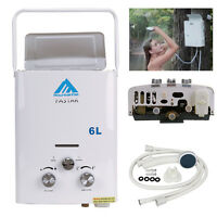 Portable tankless water heater propane hunt camp barn for Hot water heater 101