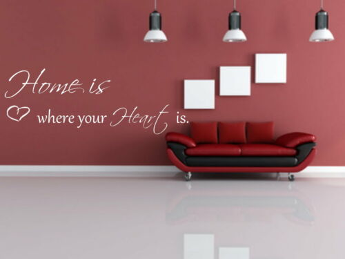 Wanddekoration,Wohnzimmer,Schlafzimmer Wandtattoo Home is where your Heart is