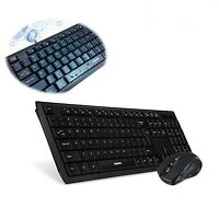 2.4 Ghz Wireless Keyboard Mouse Combo 12 Hot Key Full Numeric Keypad Usb Black