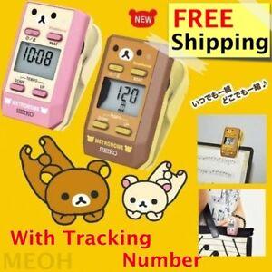 LIMITED EDITION Rilakkuma Seiko Clip Metronome Pocket Size Cute Pink/Brown DM51