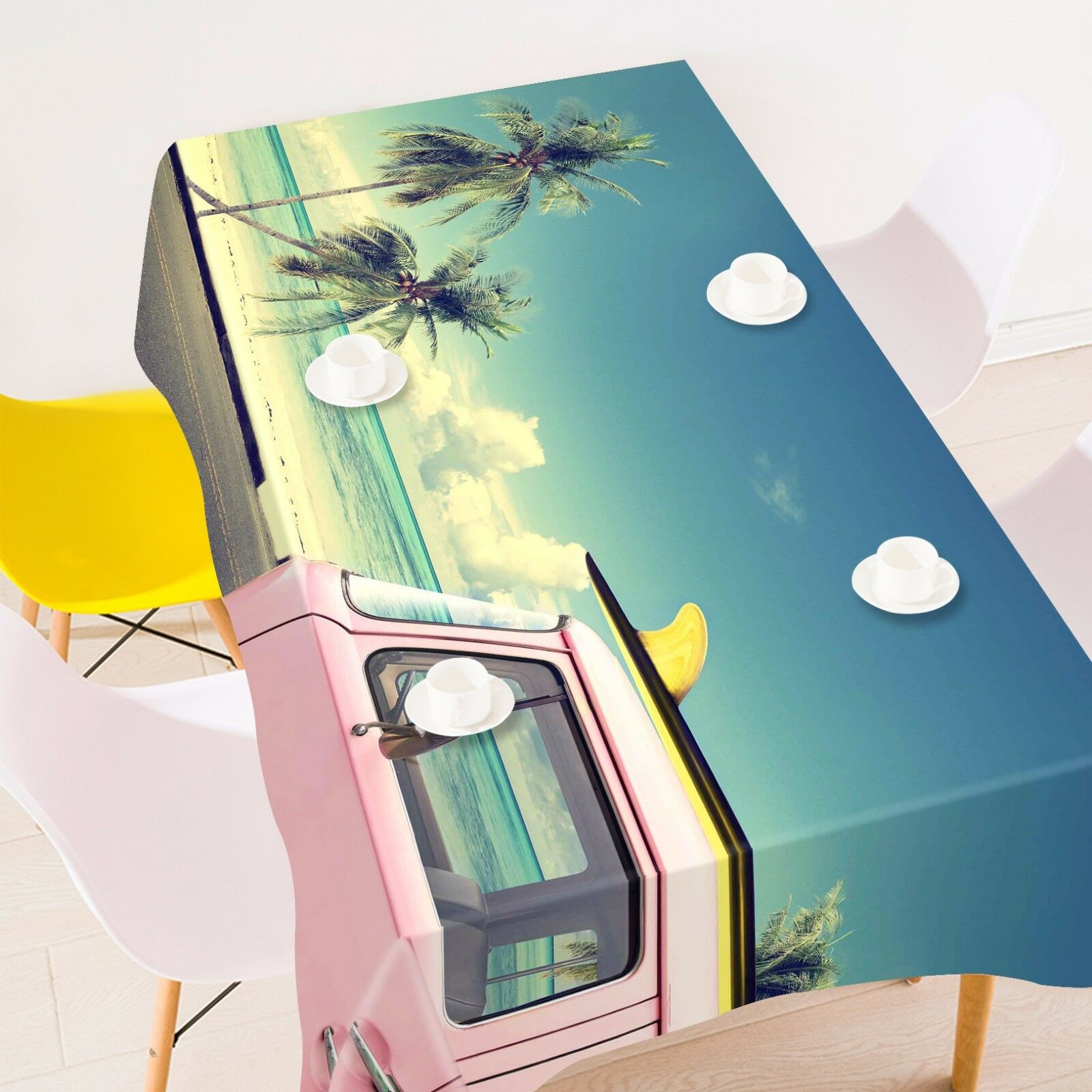 3D Bus  4380 Tablecloth Table Cover Cloth Birthday Party Event AJ WALLPAPER AU