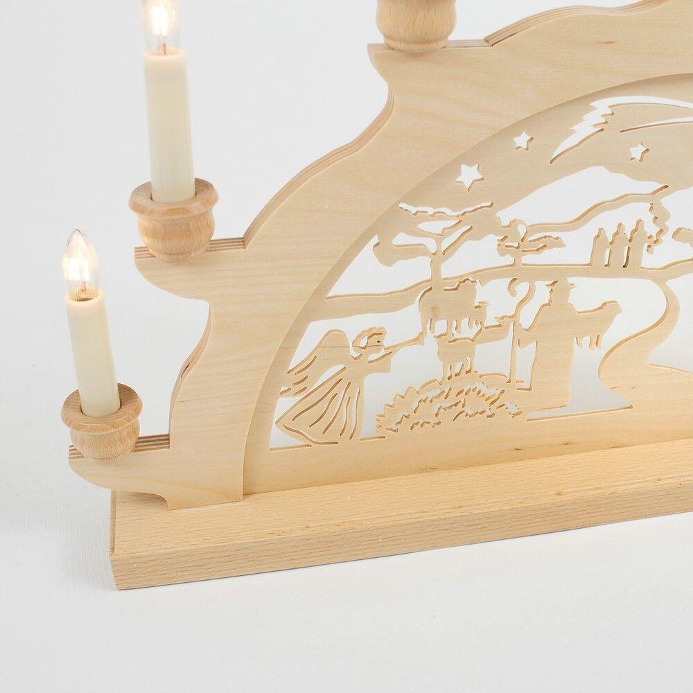 Holz-Schwibbogen Lichterbogen Geburt Jesus Christus 50 cm cm cm Made im Erzgebirge a5f60f