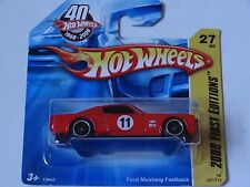 HOT WHEELS 2008 FIRST EDITIONS RED FORD MUSTANG FASTBACK 1:64 SCALE DIECAST MOC