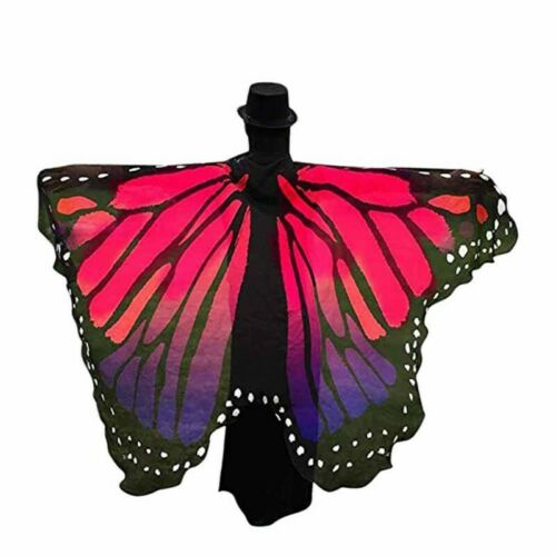 Women Elegant Fabric Butterfly Wings Shawl Pixie Costume Fairy Nymph Accessory