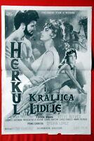 HERCULES UNCHAINED STEVE REEVES 1959 SYLVA KOSCINA RARE B/W EXYUGO MOVIE POSTER