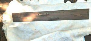 "Antique Kelvin Hughes 24"" Brass Parallel Ruler Nautical Navigation Tool no  Box"