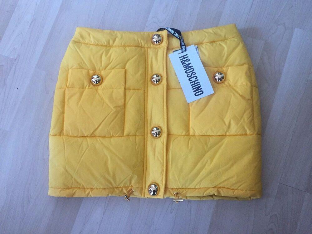 Moschino Tv H&m Wattierter Rock Skirt Eur Taille 42 Size Us 10 Uk 14 New Nouveau Hm
