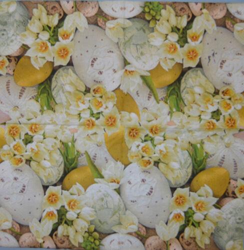 Papier serviettes de table oeufs blanc crocus for craft decoupis tea parties 217